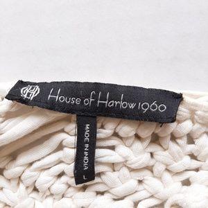House of Harlow 1960 Tops - House of Harlow Cream Crochet Crop Halter Top